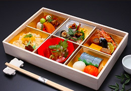 遊山弁当「優」(やさし)1,500円(税込1,575円)